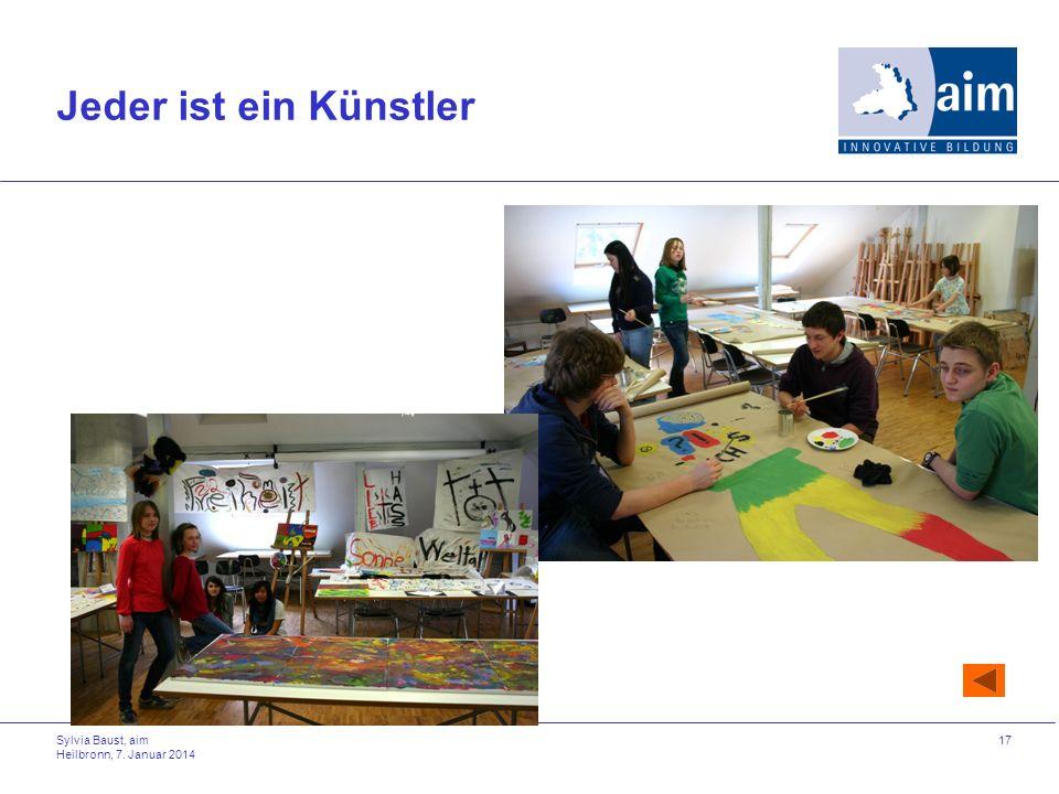 Sylvia Baust, aim Heilbronn, 7. Januar 2014 17 Jeder ist ein Künstler