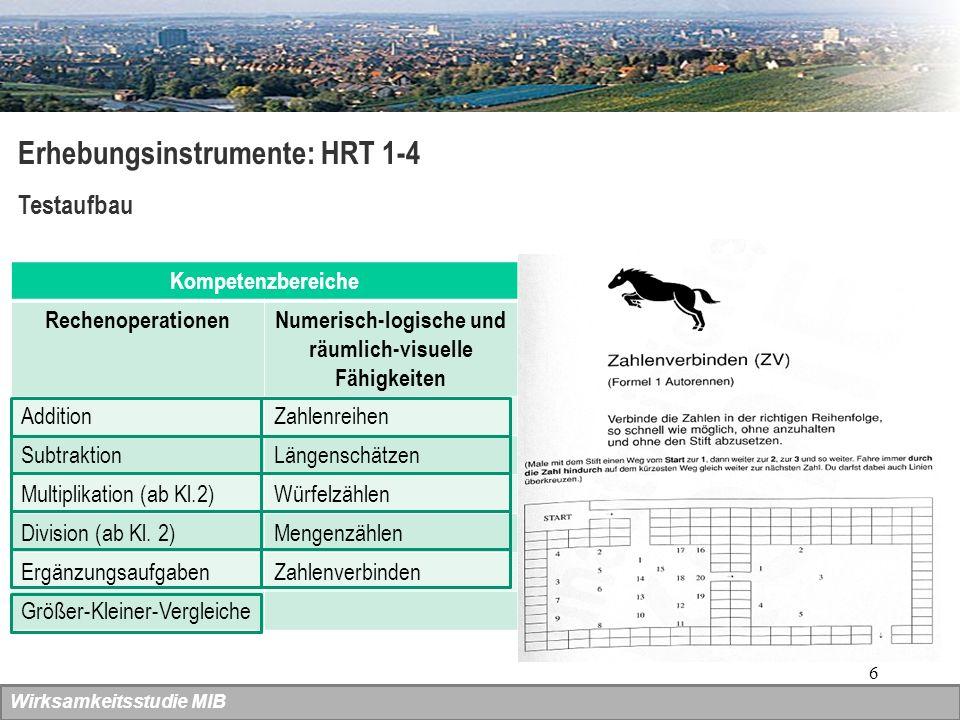 7 Wirksamkeitsstudie MIB Erhebungsinstrumente: WLLP Würzburger Leise Leseprobe Überprüfung der Dekodier-(=Lese-)geschwindigkeit Messung der Leseleistung Durchführbar von Ende der 1.
