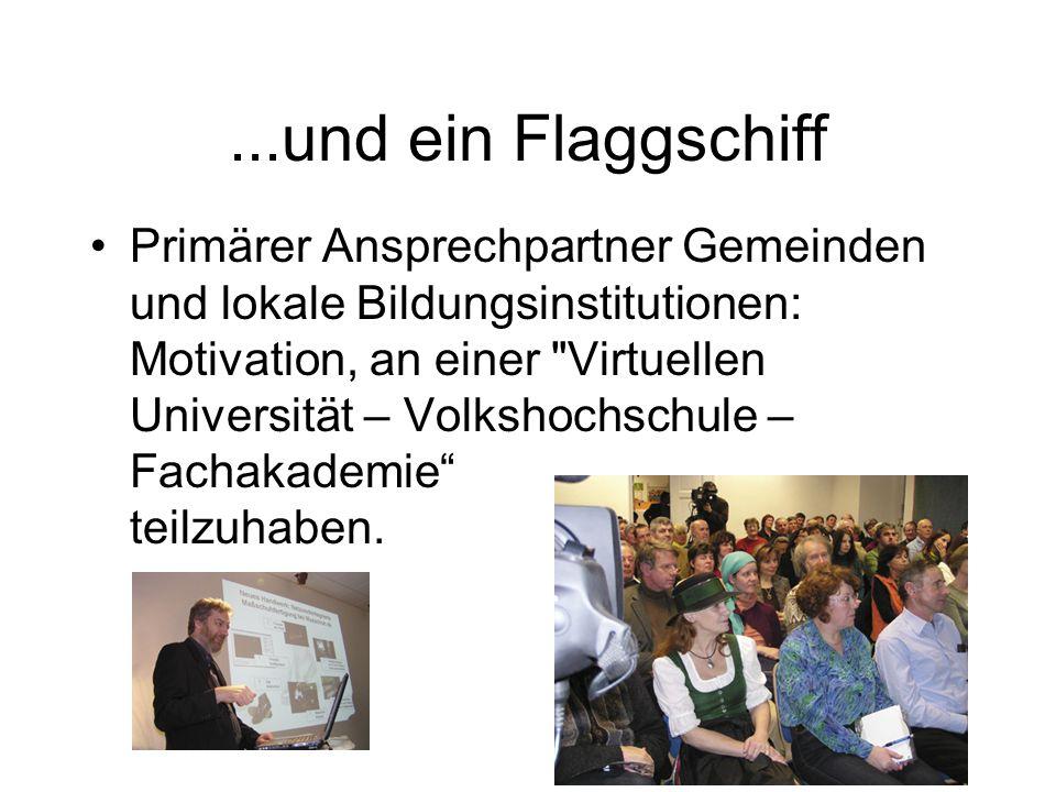 ...und ein Flaggschiff Primärer Ansprechpartner Gemeinden und lokale Bildungsinstitutionen: Motivation, an einer