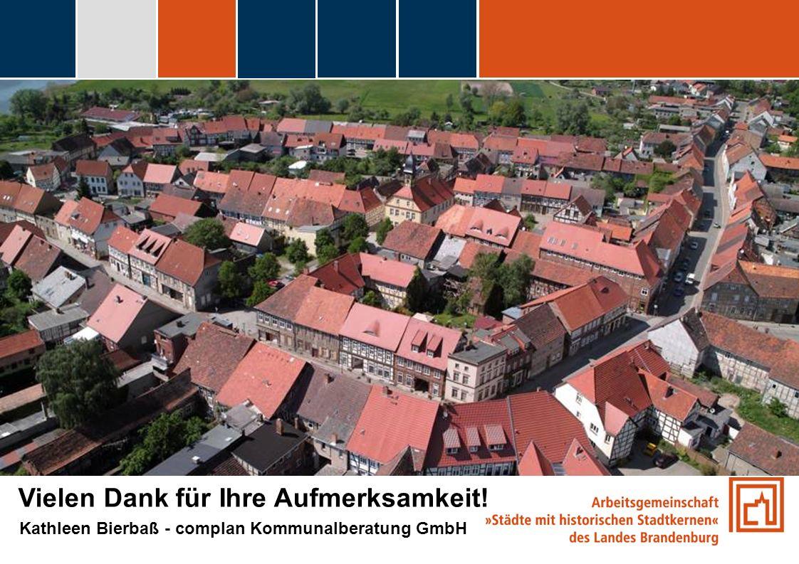 fdggfg Vielen Dank für Ihre Aufmerksamkeit! Kathleen Bierbaß - complan Kommunalberatung GmbH