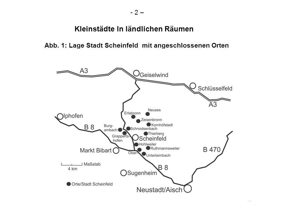 - 2 – Kleinstädte In ländlichen Räumen Abb. 1: Lage Stadt Scheinfeld mit angeschlossenen Orten