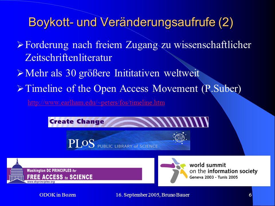 ODOK in Bozen 16.September 2005, Bruno Bauer7 Boykott- u.