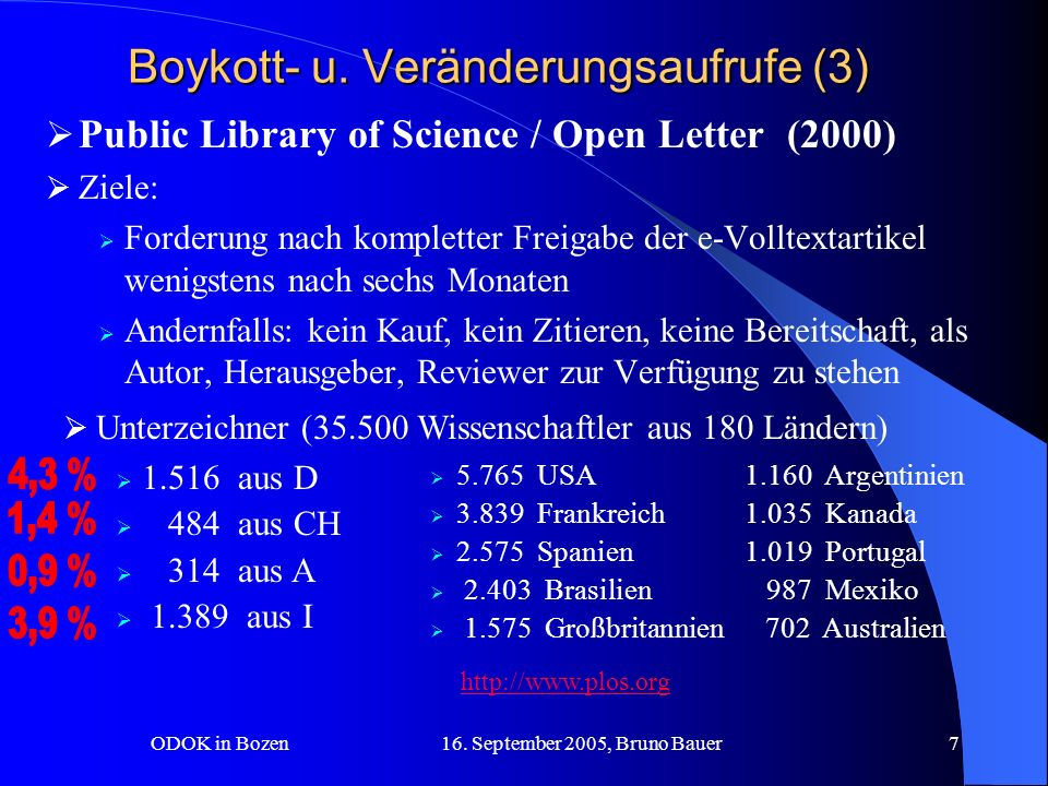 ODOK in Bozen 16.September 2005, Bruno Bauer8 Boykott- u.