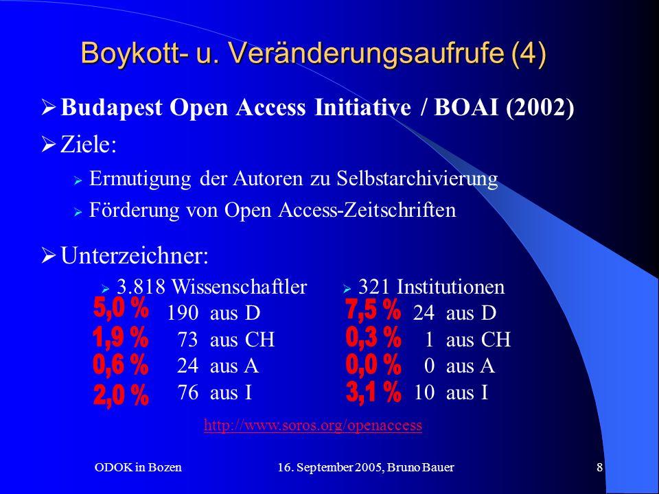 ODOK in Bozen 16.September 2005, Bruno Bauer9 Boykott- u.