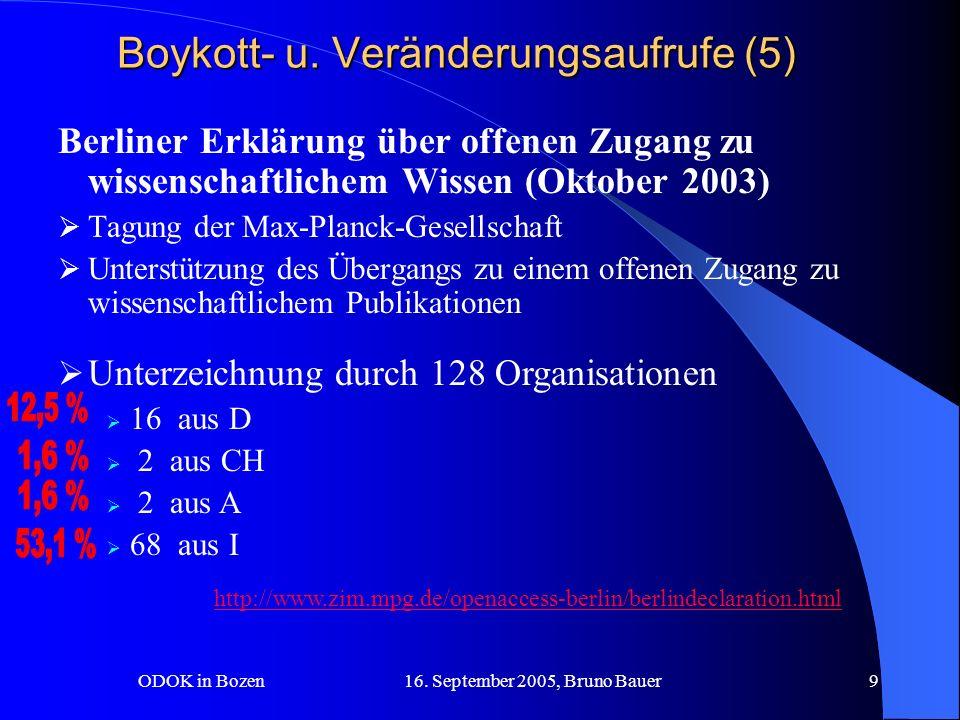ODOK in Bozen 16.September 2005, Bruno Bauer10 Boykott- u.
