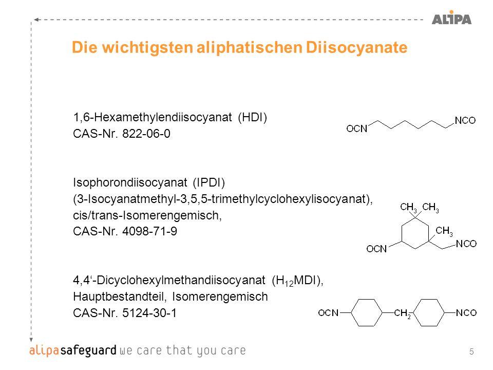 5 1,6-Hexamethylendiisocyanat (HDI) CAS-Nr. 822-06-0 Isophorondiisocyanat (IPDI) (3-Isocyanatmethyl-3,5,5-trimethylcyclohexylisocyanat), cis/trans-Iso
