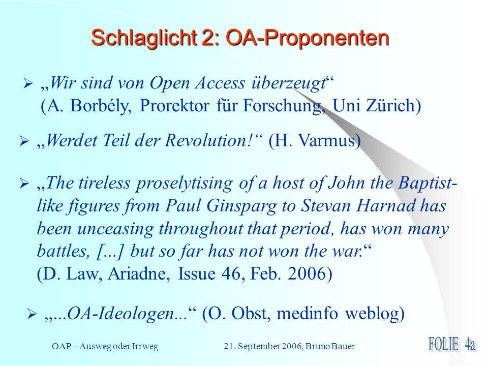 OAP – Ausweg oder Irrweg 21.