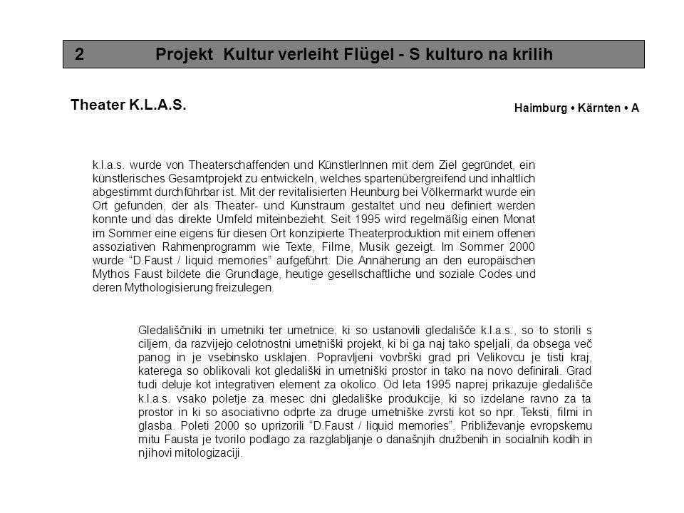 3 Projekt Kultur verleiht Flügel - S kulturo na krilih Topolò ist ein kleines friulanisches Dorf an der Grenze zu Slowenien und stark von Abwanderung betroffen.