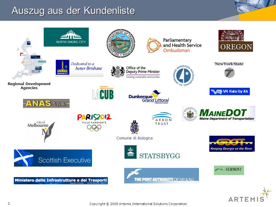 Copyright © 2005 Artemis International Solutions Corporation 14 CuB - Projektmeldeblatt