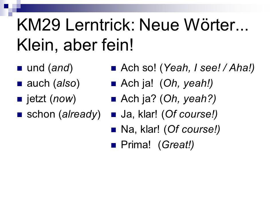 KM29 Lerntrick: Neue Wörter...Klein, aber fein.