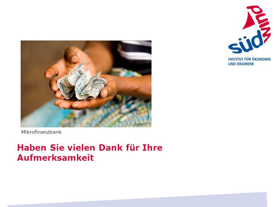 Haben Sie vielen Dank für Ihre Aufmerksamkeit Mikrofinanzbank