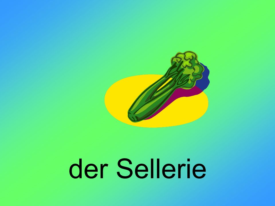 der Sellerie