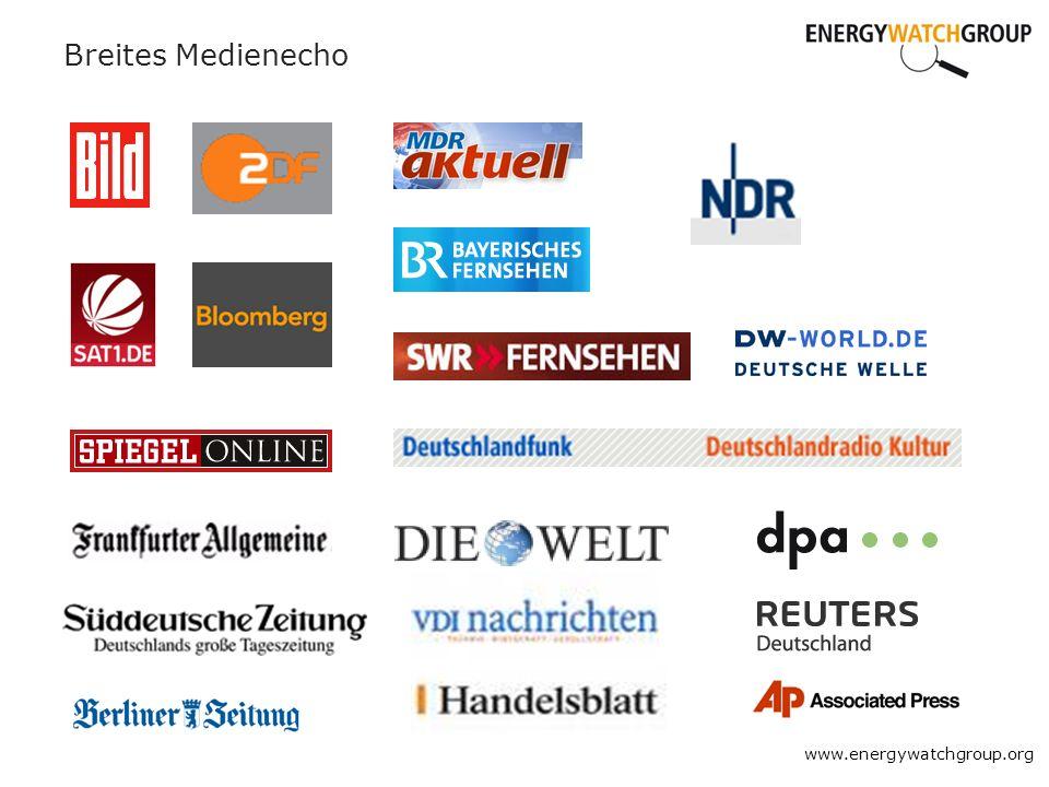Breites Medienecho www.energywatchgroup.org