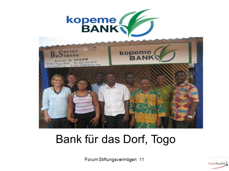Bank für das Dorf, Togo 11Forum Stiftungsvermögen 11