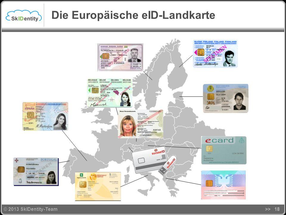 © 2013 SkIDentity-Team >>18 Die Europäische eID-Landkarte