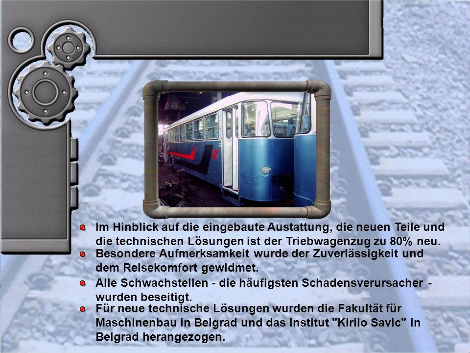 Im Hinblick auf die eingebaute Austattung, die neuen Teile und die technischen Lösungen ist der Triebwagenzug zu 80% neu.