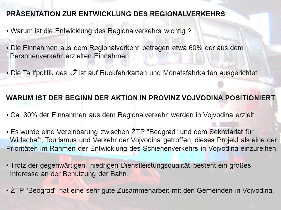 PRÄSENTATION ZUR ENTWICKLUNG DES REGIONALVERKEHRS Warum ist die Entwicklung des Regionalverkehrs wichtig .