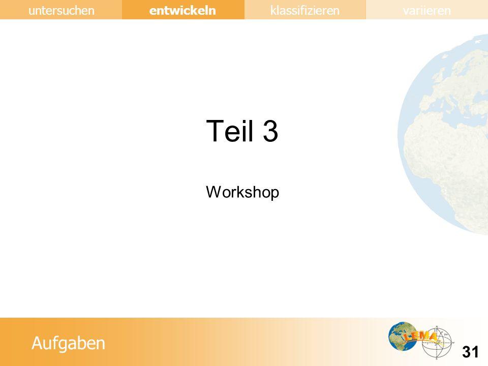 Aufgaben entwickeln 31 untersuchenklassifizierenvariieren Teil 3 Workshop