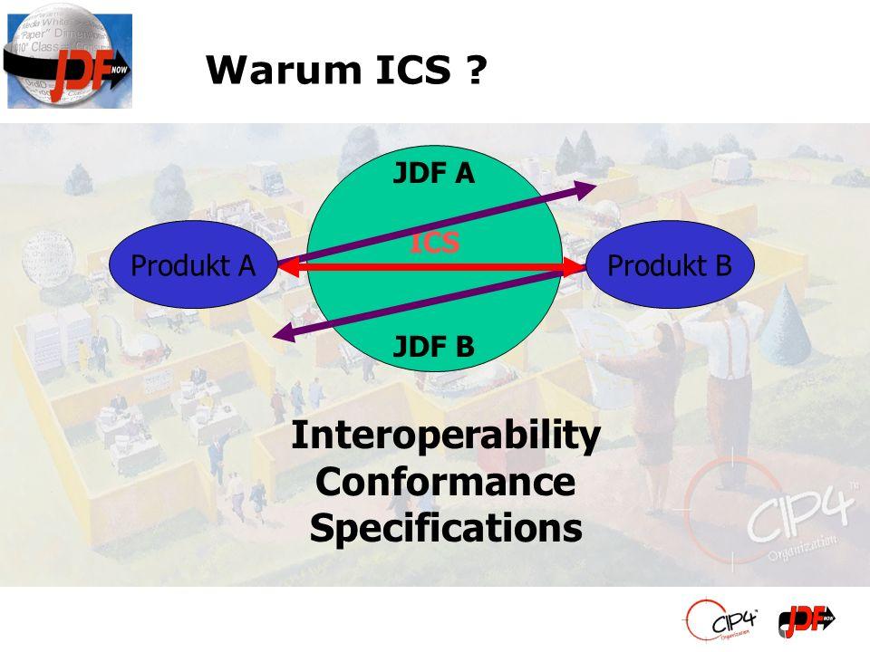 Der Begriff JDF Kompatibel besagt nicht, dass zwei beliebige Applikationen sinnhaltig kommunizieren können.