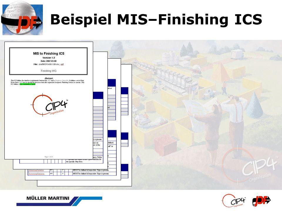 Beispiel MIS–Finishing ICS