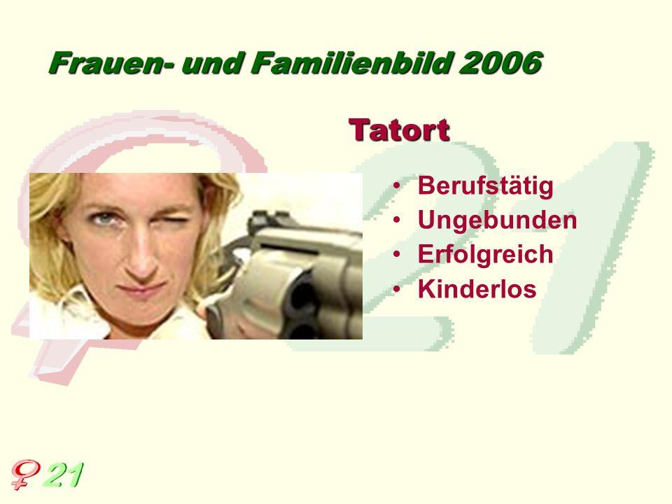 Berufstätig Ungebunden Erfolgreich Kinderlos Frauen- und Familienbild 2006 Tatort
