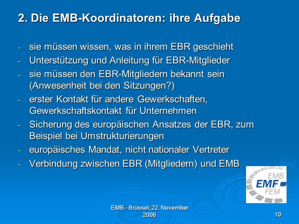 EMB - Brüssel, 22.November 200610 2.