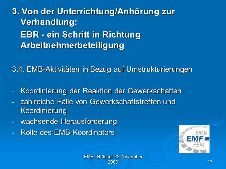 EMB - Brüssel, 22.November 200617 3.