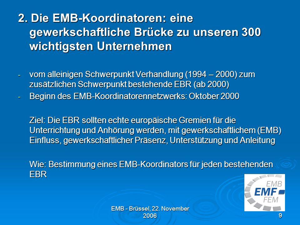 EMB - Brüssel, 22.November 20069 2.