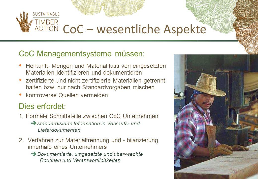 CoC – wesentliche Aspekte 1.