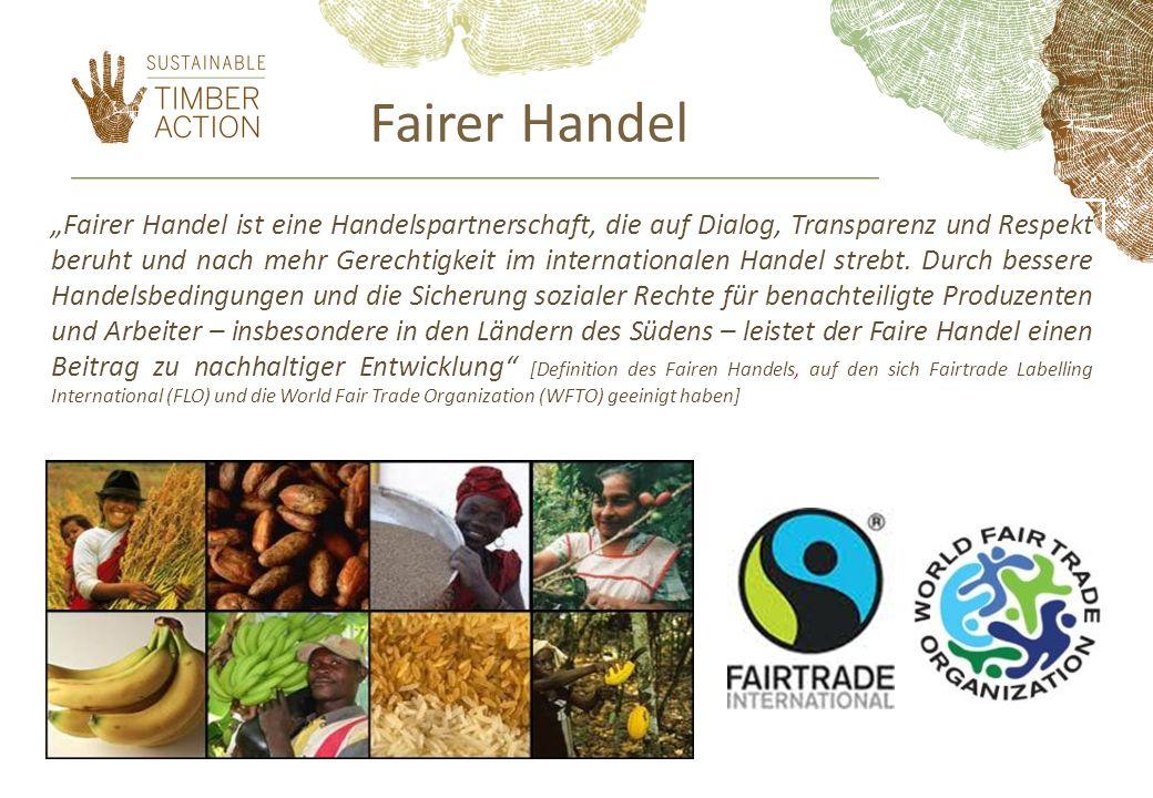 Fairer Handel Fairer Handel ist eine Handelspartnerschaft, die auf Dialog, Transparenz und Respekt beruht und nach mehr Gerechtigkeit im internationalen Handel strebt.