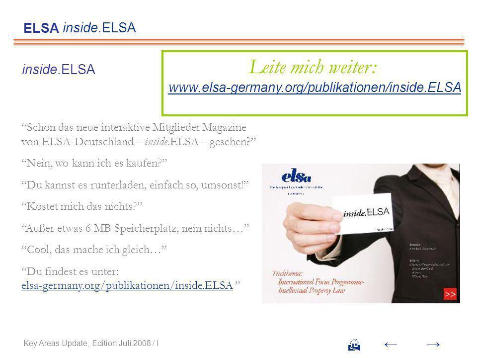 Schon das neue interaktive Mitglieder Magazine von ELSA-Deutschland – inside.ELSA – gesehen.