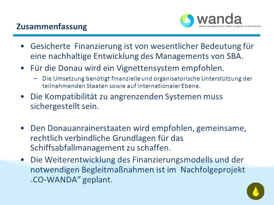 Zusammenfassung Gesicherte Finanzierung ist von wesentlicher Bedeutung für eine nachhaltige Entwicklung des Managements von SBA.