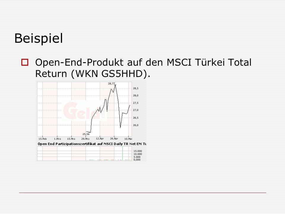 Bonus-Zertifikat (WKN GS0ZTR).Dividenden werden zur Finanzierung der Bonusstruktur verwendet.