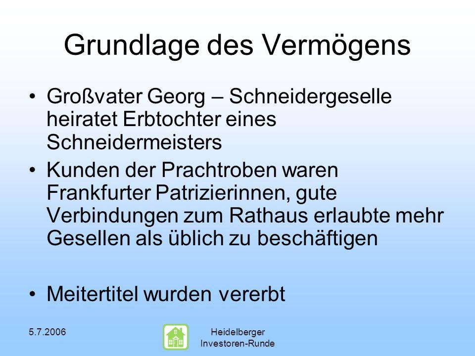 5.7.2006Heidelberger Investoren-Runde Der Geheimrat