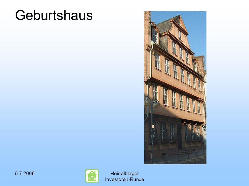 5.7.2006Heidelberger Investoren-Runde Geburtshaus
