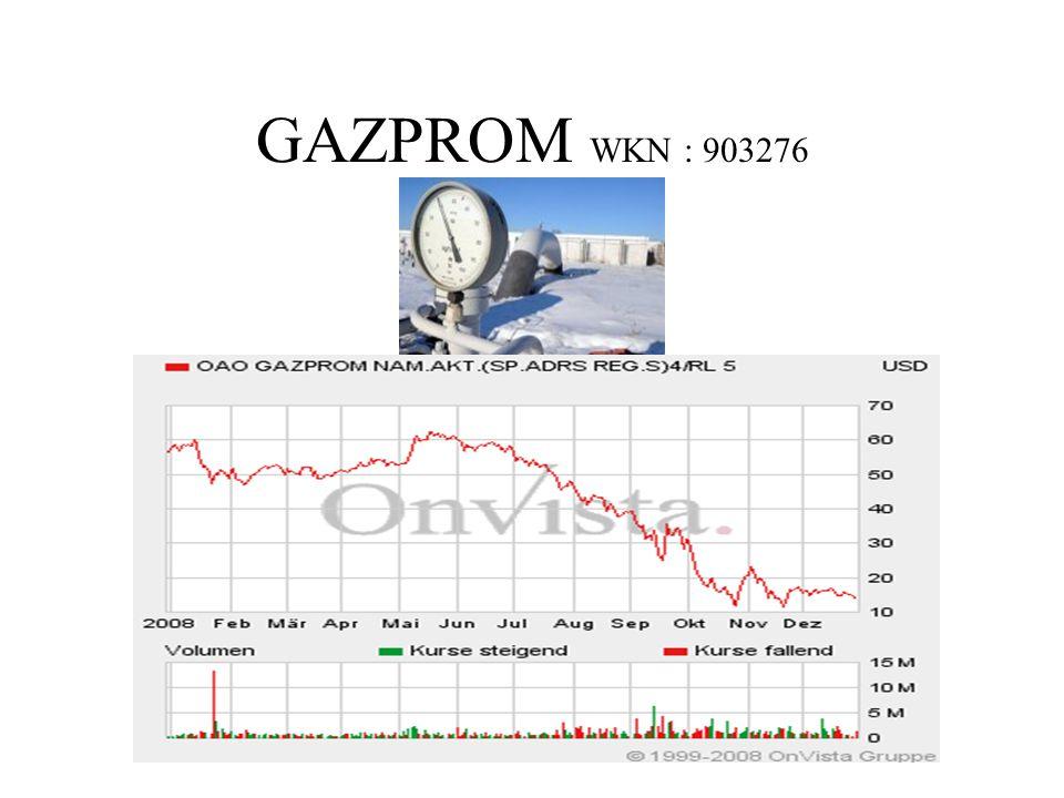 GAZPROM WKN : 903276