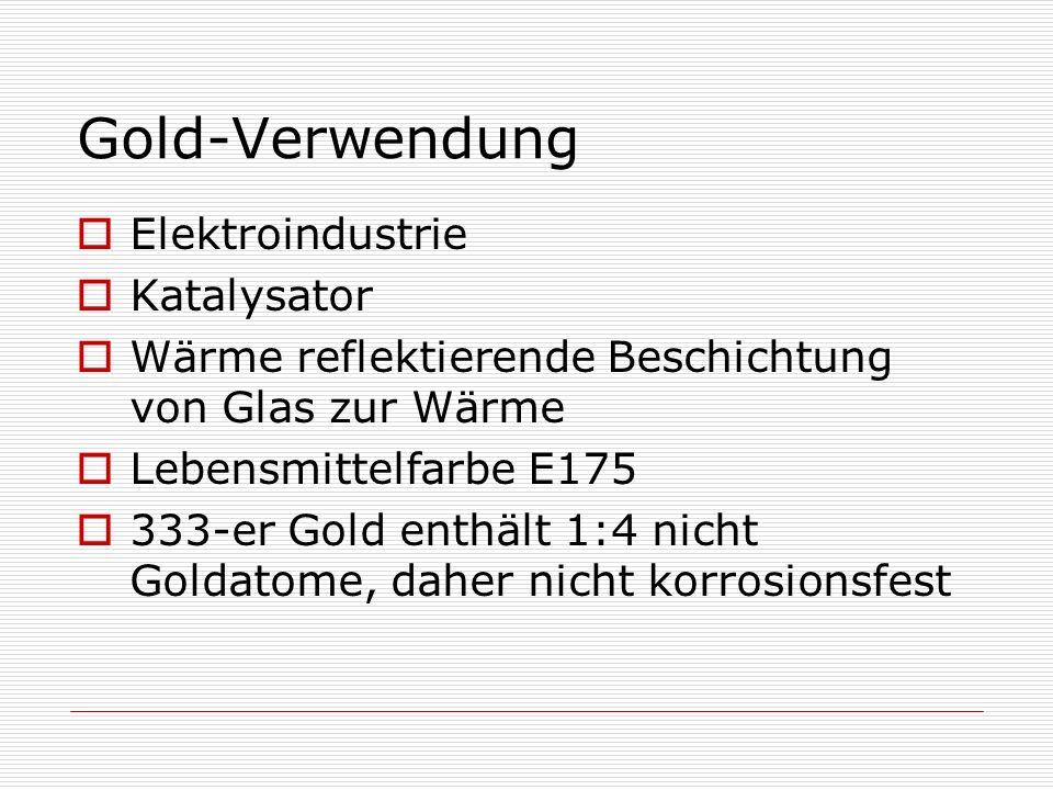 Gold-Verwendung Elektroindustrie Katalysator Wärme reflektierende Beschichtung von Glas zur Wärme Lebensmittelfarbe E175 333-er Gold enthält 1:4 nicht