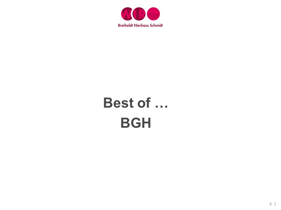 S. 3 Best of … BGH