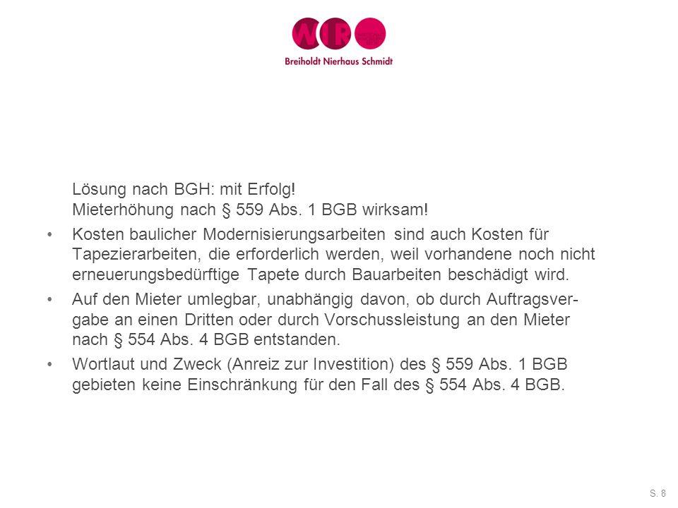 S.19 Lösung nach BGH: eventuell – Sache zurückverwiesen.