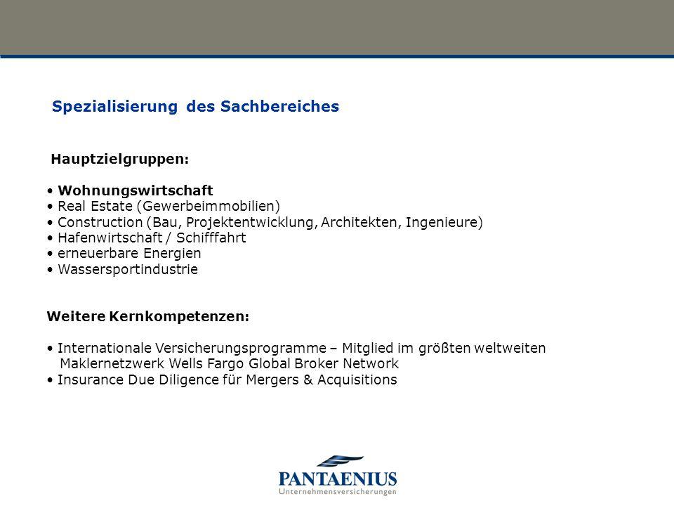 Hauptzielgruppen: Wohnungswirtschaft Real Estate (Gewerbeimmobilien) Construction (Bau, Projektentwicklung, Architekten, Ingenieure) Hafenwirtschaft /