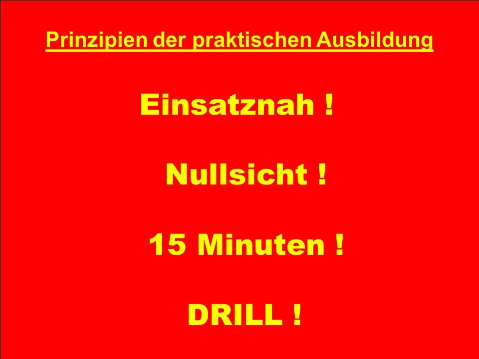 Atemschutz-Rettungstrupp Prinzipien der praktischen Ausbildung Einsatznah ! Nullsicht ! 15 Minuten ! DRILL !