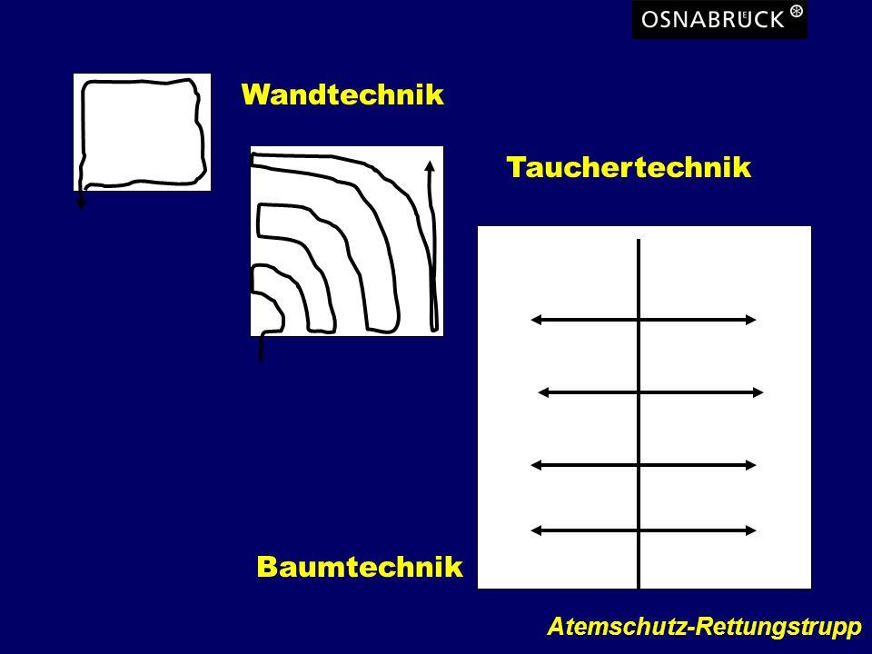 Atemschutz-Rettungstrupp Wandtechnik Baumtechnik Tauchertechnik