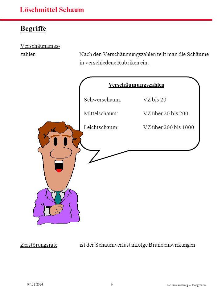 1707.01.2014 LZ Davensberg G.Bergmann Löschmittel Schaum Schaummittelberechnung Lösung Beispiel 1 1.