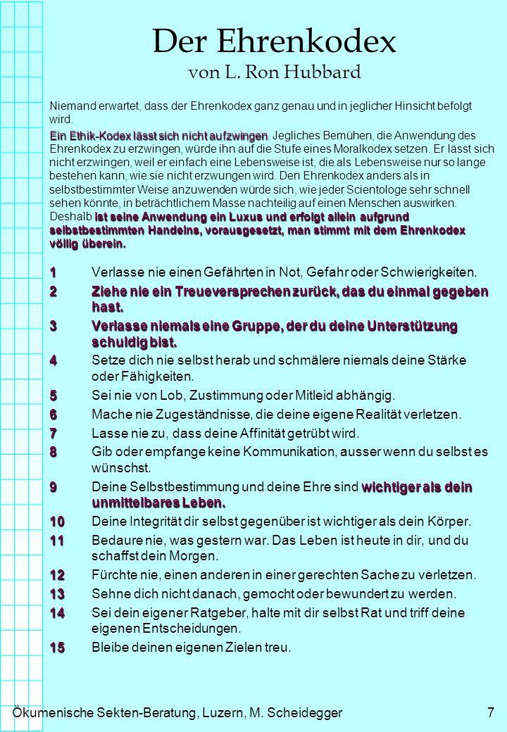 Ökumenische Sekten-Beratung, Luzern, M.Scheidegger8 ...