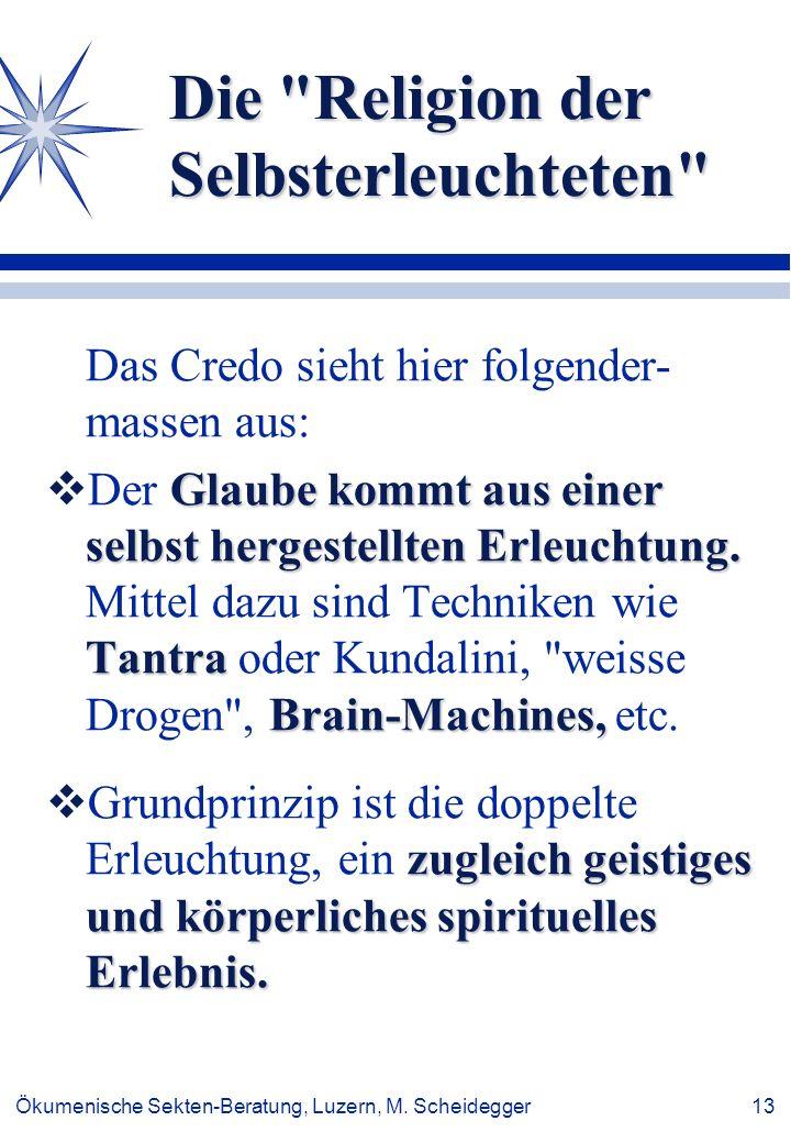 Ökumenische Sekten-Beratung, Luzern, M. Scheidegger 13 Die