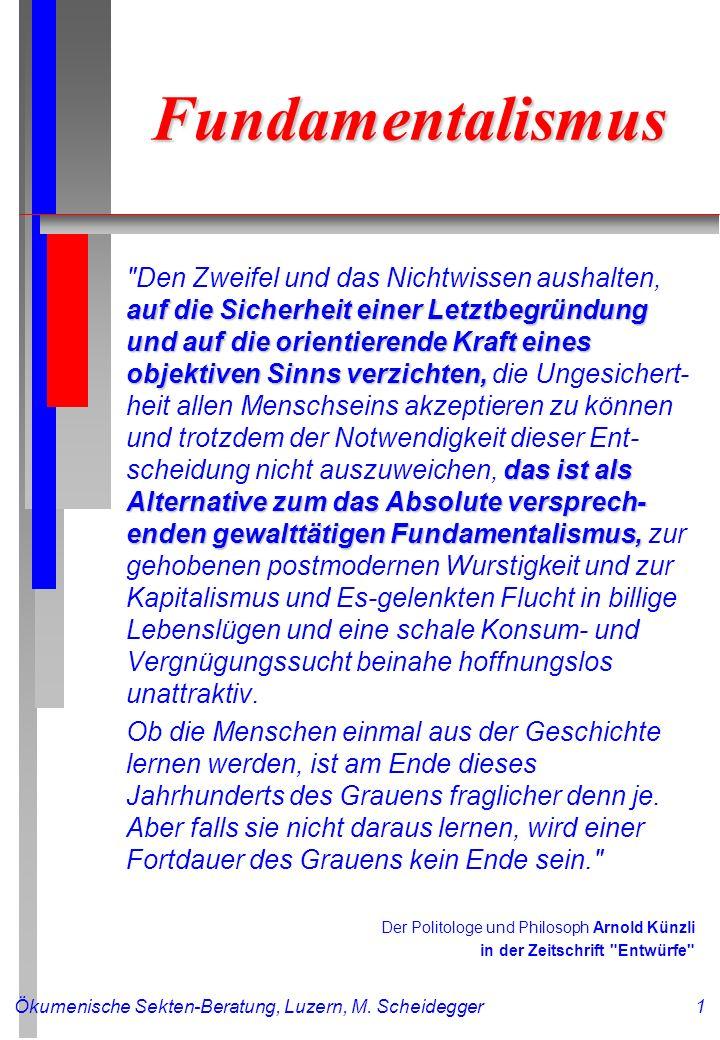 Ökumenische Sekten-Beratung, Luzern, M.