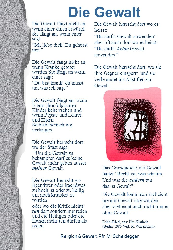 Religion & Gewalt, Pfr.M.