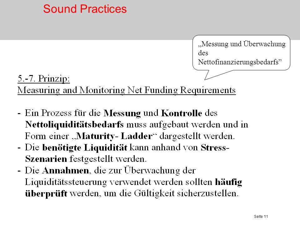 Seite 12 Offenhalten des Marktzugangs Sound Practices