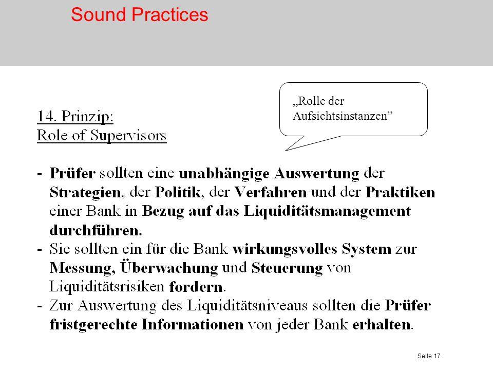 Seite 18 Komponenten des Liquiditätsrisikos Quelle: Zeranski/Geiersbach/Walter, in Schulte-Mattler et al.