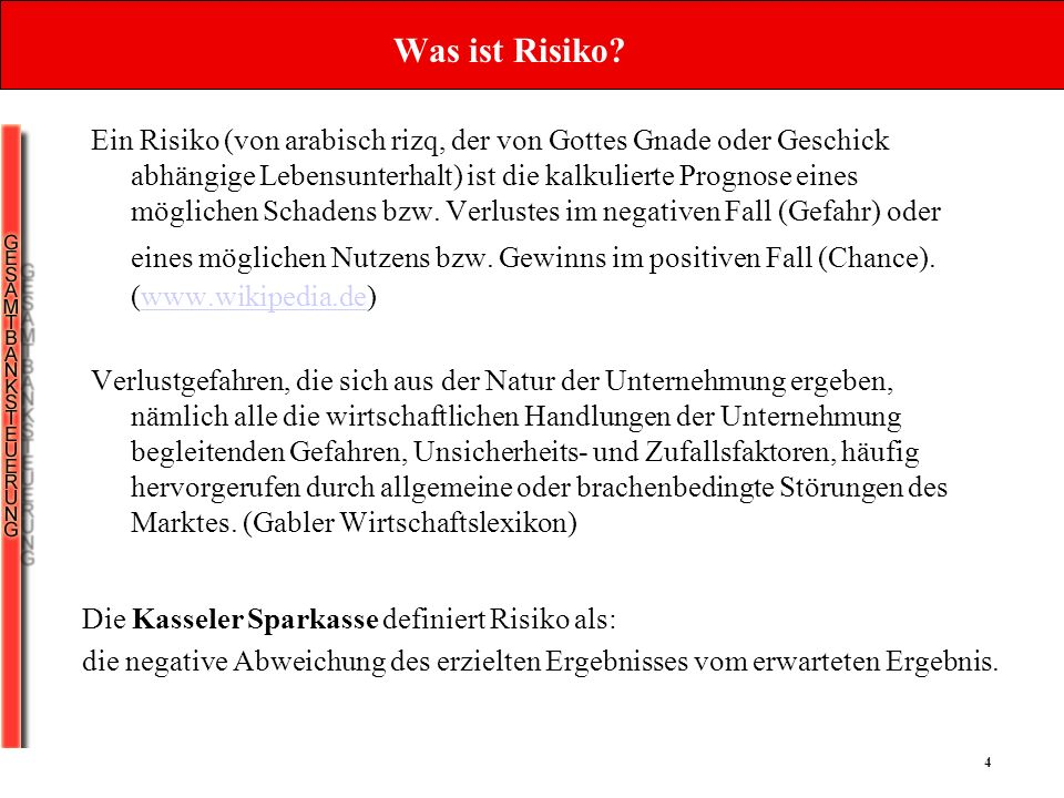 4 Was ist Risiko.